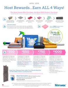 April Host Rewards, Norwex Host Reward, Norwex April Host Rewards