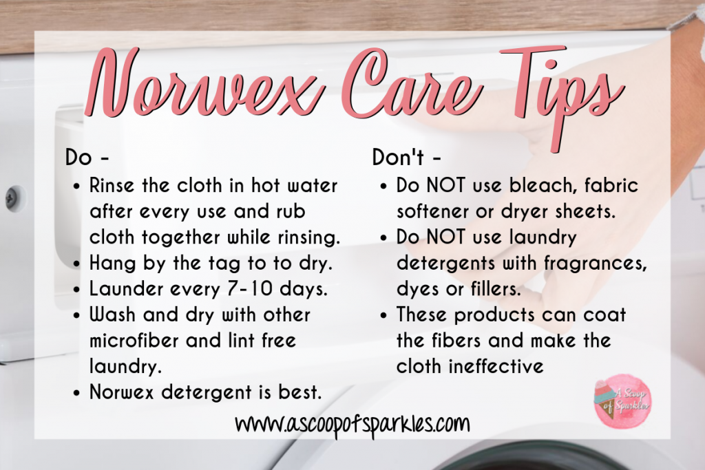 Norwex Care Tips, Laundry Care Tips, Microfiber Care, Norwex Laundry