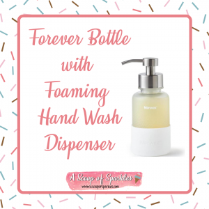 Forever Bottle with Foaming Hand Wash Dispenser. Made from glass