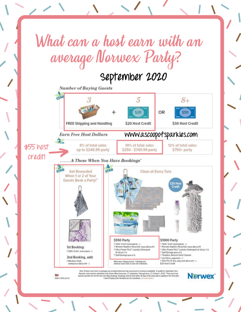 What can a host earn with an average Norwex party?