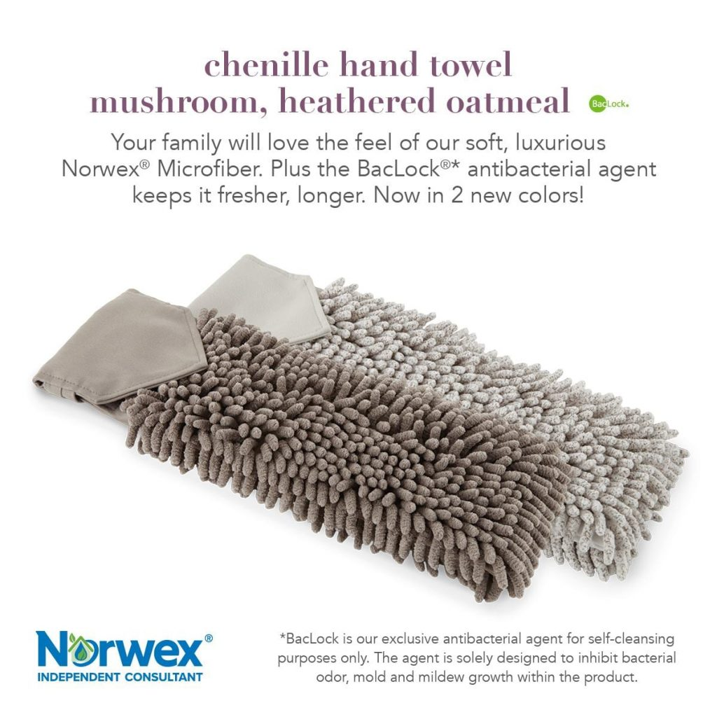 Norwex Chenille Hand Towels